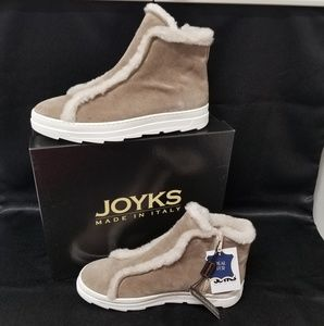 NIB Joyks Real Fur & Suede Italian Ankle Boots (8)